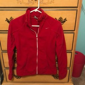 Nike fleece zip up size s